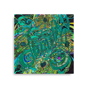 FAMILY GREEN Canvas Statement Print