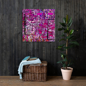LOVE: IN PINK Canvas Statement Print