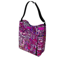 Load image into Gallery viewer, LOVE: IN PINK Neoprene Hobo Bag