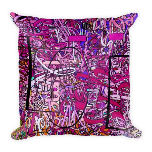 LOVE: IN PINK Square Accent Throw Pillow