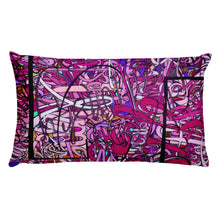 Load image into Gallery viewer, LOVE: IN PINK Rectangle Accent Throw Pillow