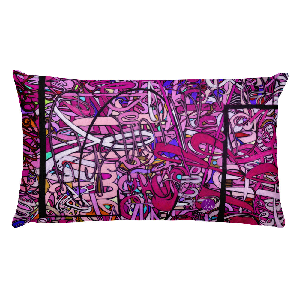 LOVE: IN PINK Rectangle Accent Throw Pillow