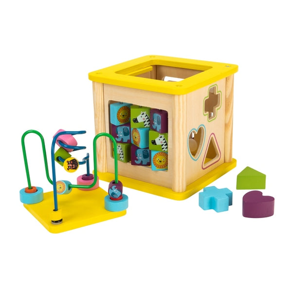Squirrel Play Wooden Sort N Play Activity Cube