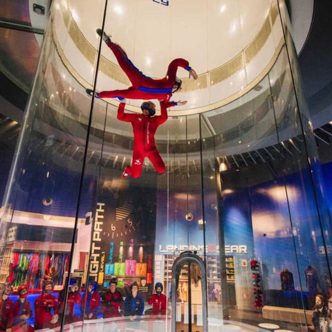 Group participating in iFly