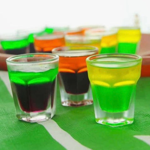 Tailgate themed jello shots