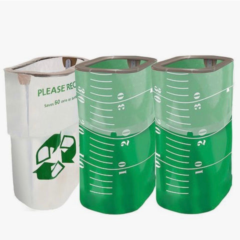 Reusable garbage cans for tailgating