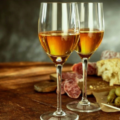 Dessert wine paired with a charcuterie board