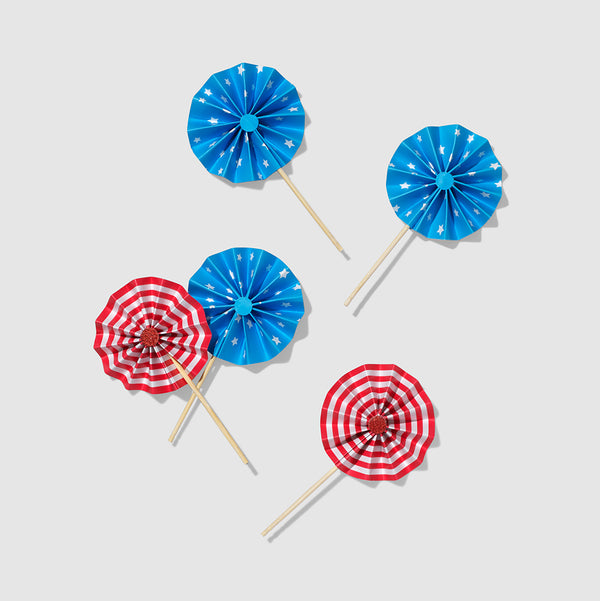 U.S. of Yay! Pinwheel Toppers (10 per pack) by Coterie
