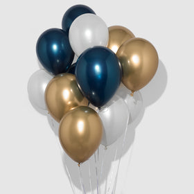 Navy and Gold Balloon Bunch