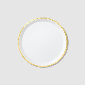 White and Gold Classic Large Plates (10 per pack)