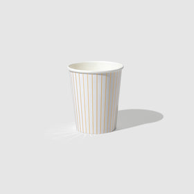 White Pinstripe Cups (10 per pack)