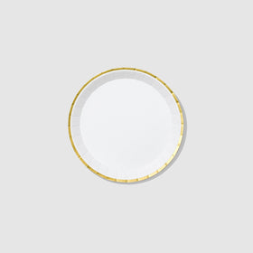 White and Gold Classic Small Plates (10 per pack)