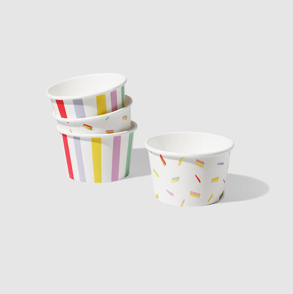 Stripe and Sprinkle Bowls (10 per pack) by Coterie