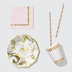 Carrara Marble Emergency Set (For 10 Guests)