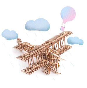 Plane - Wooden 3D mechanical model. No glue or cutting required Construction set