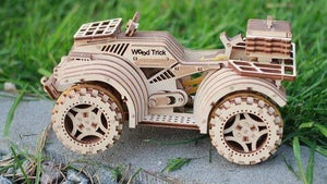 Quad Bike - 3d wooden mechanical model. Learning game. Kits to build.