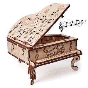 Toy Piano - WoodTrick, wooden model kit, 3d wooden mechanical model, model building model kit