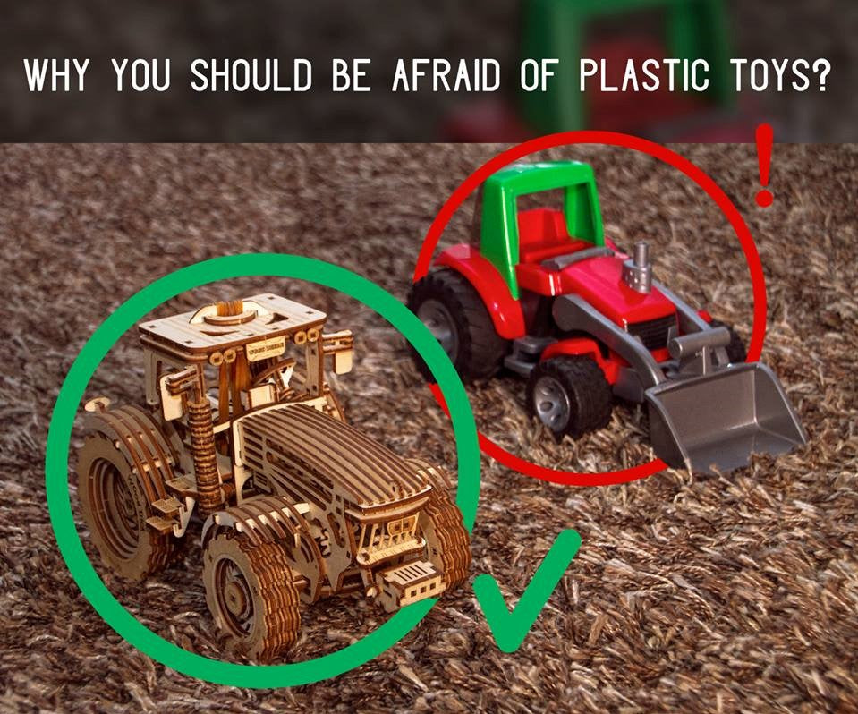 why should you stop using plastic. wooden toys vs plastic toys.