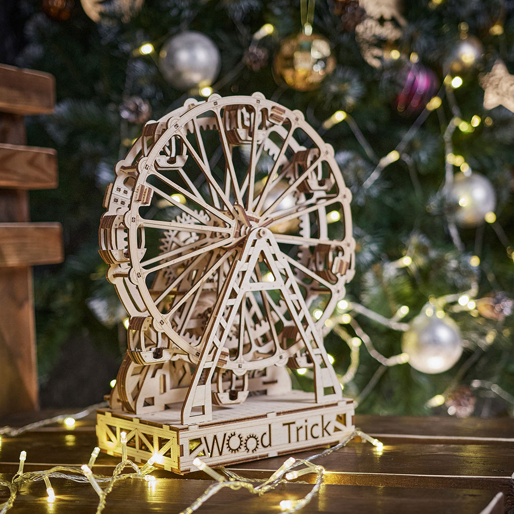 Mechanical-Ferris-Wheel---3D-wooden-mechanical-model-kit-by-WoodTrick.
