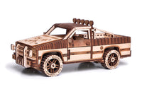 Pickup - WoodTrick wooden model kit. Wooden 3D mechanical model. wood building model kits.
