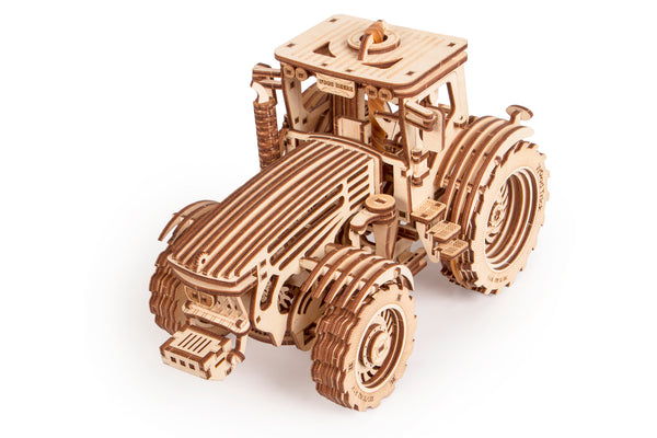 Tractor - Wooden mechanical model, 3D puzzle, for children and adults. Perfect gift for him. Learning game, Educational toy, Wooden toys