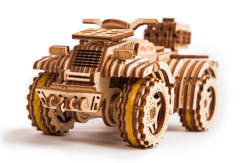 Wooden 3D mechanical Quad Bike model
