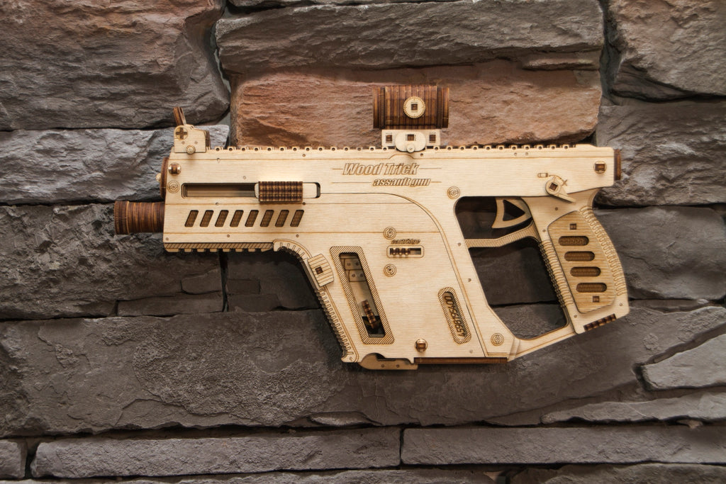 assault weapon wooden toy