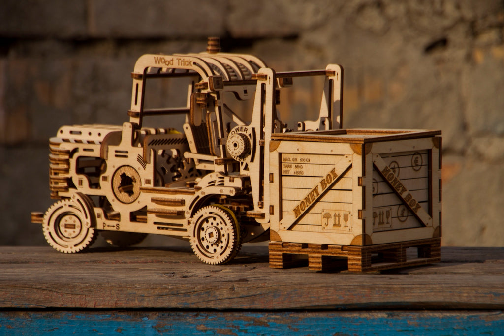 forklift wooden toy