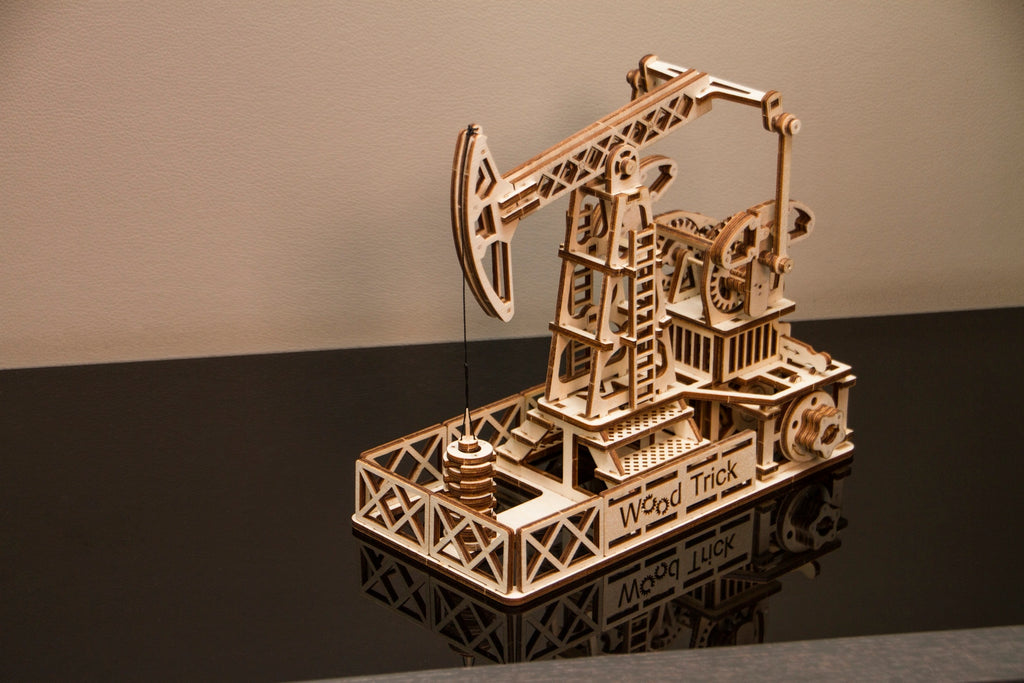 oil derrick wooden toy