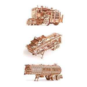 3 in 1. Set of 3 models: Big Rig, Car Trailer, Tank Trailer