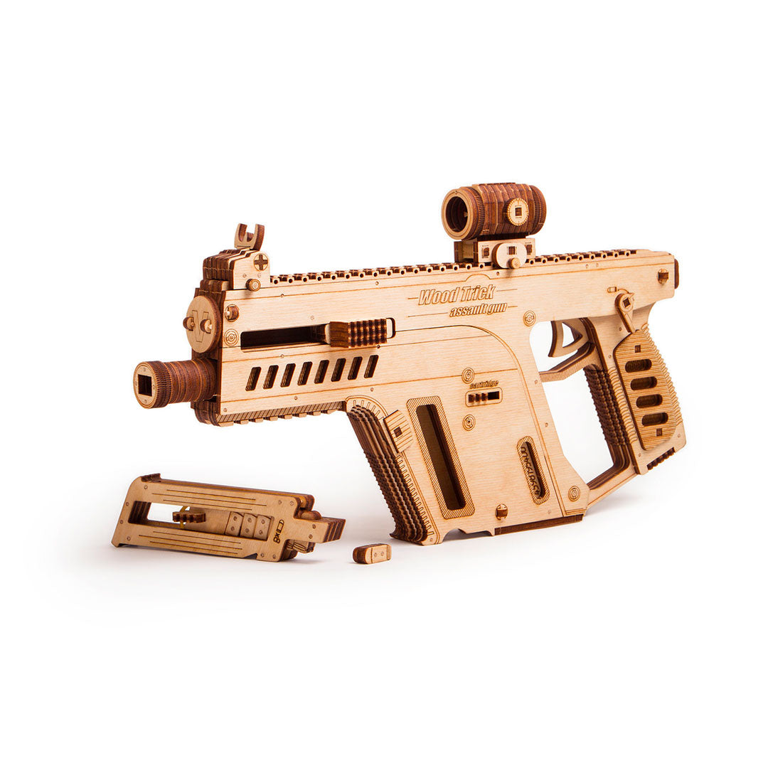 Assault Weapon - 3D wooden mechanical model kit by WoodTrick.