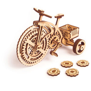 Bicycle - 3D wooden mechanical model kit by WoodTrick.