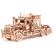 Big Rig - 3D wooden mechanical model kit by WoodTrick.
