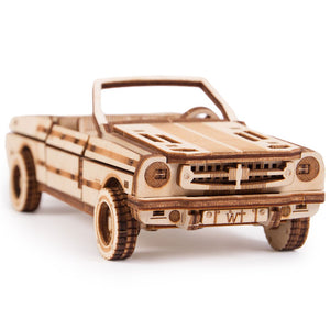 Cabriolet - 3D wooden mechanical model kit by WoodTrick.