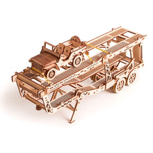 Car Trailer - 3D wooden mechanical model kit by WoodTrick.