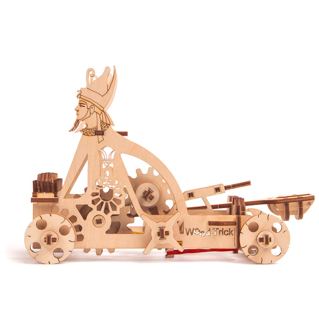 Egyptian Catapult - 3D wooden mechanical model kit by WoodTrick.