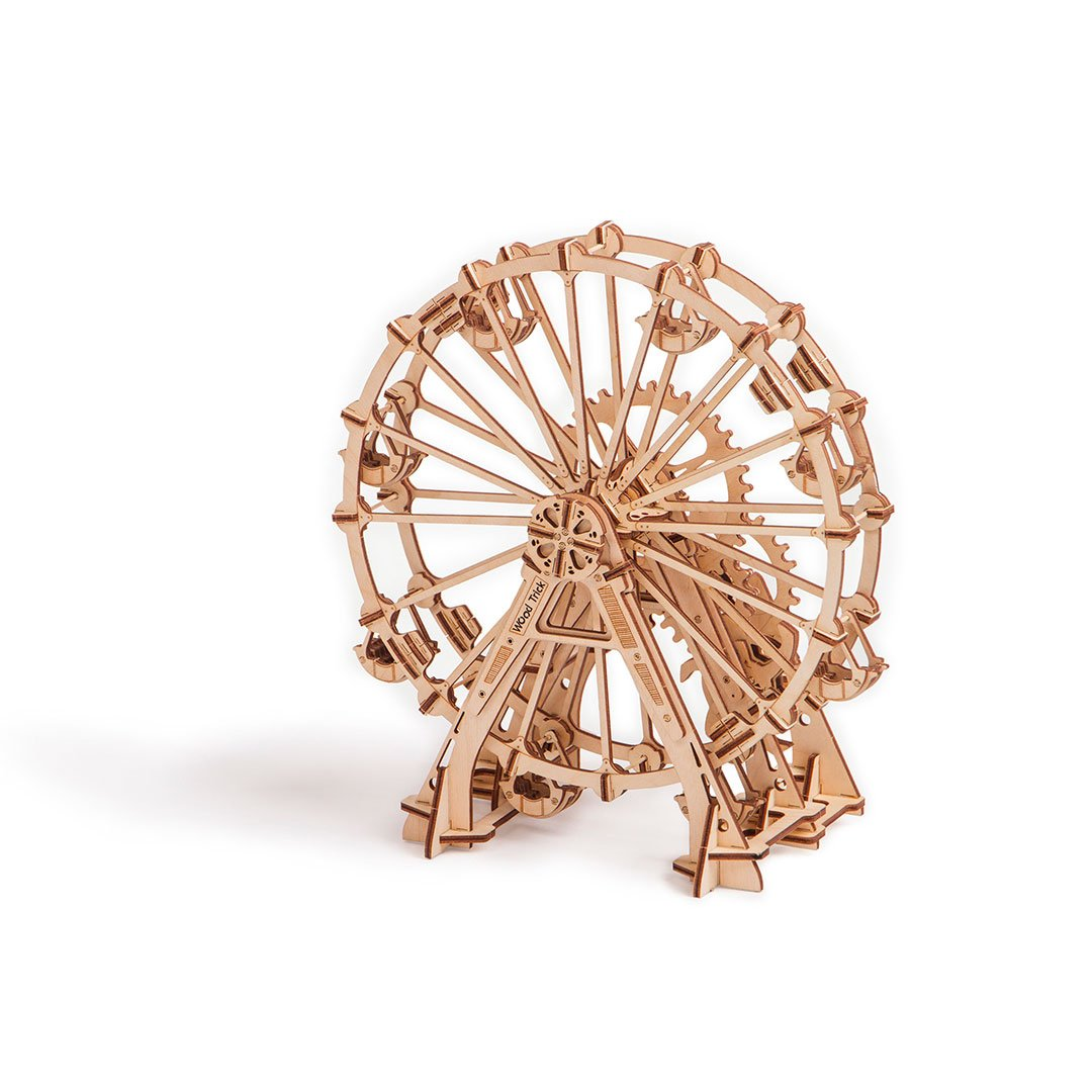 Ferris Wheel 3D wooden mechanical model kit by WoodTrick.