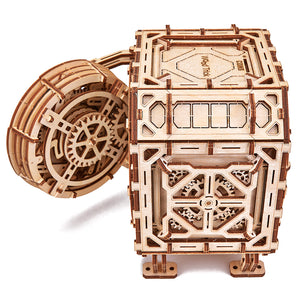 Geared Safe - 3D-wooden-mechanical-model-kit-by-WoodTrick.