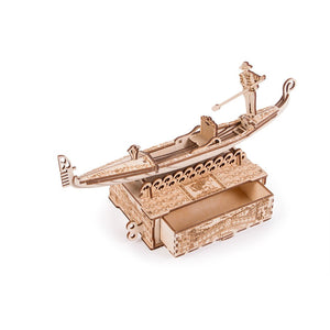 Gondola - 3D wooden mechanical model kit by WoodTrick.