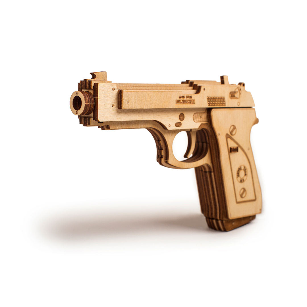 Gun - 3D wooden mechanical model kit by WoodTrick.