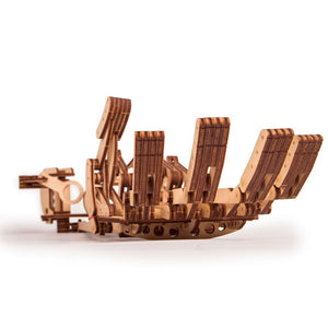 Hand - 3D wooden mechanical model kit by WoodTrick.