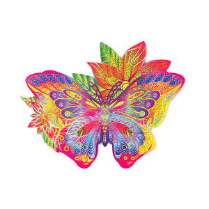 Jewel Butterfly - wooden colorful puzzle by WoodTrick.