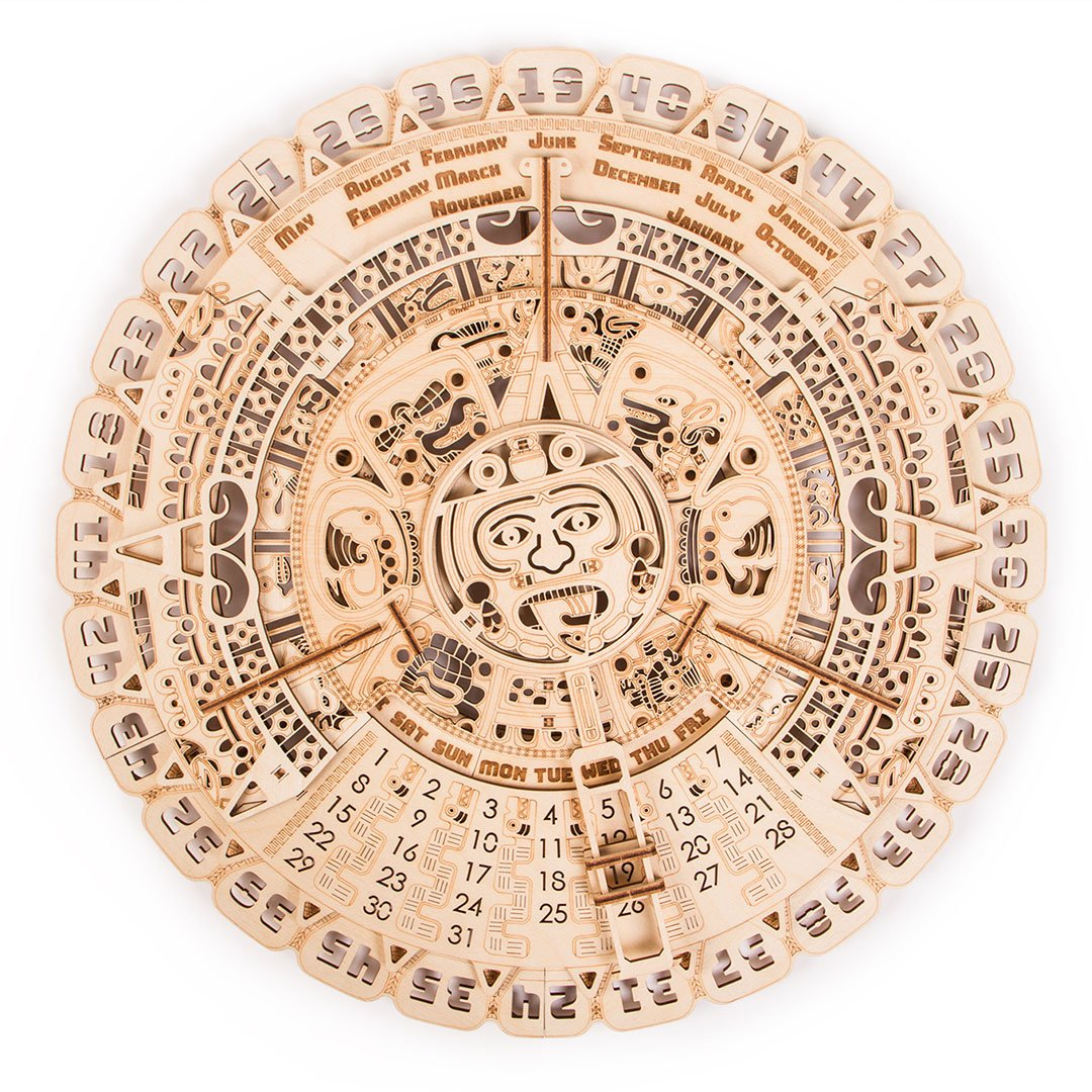 Maya calendar - 3D wooden mechanical model kit by WoodTrick.