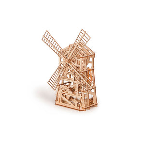 Mechanical Windmill 3D wooden mechanical model kit by WoodTrick.