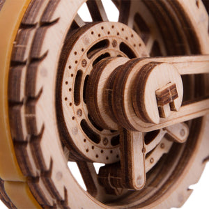 Motorcycle DMS - 3D wooden mechanical model kit by WoodTrick.