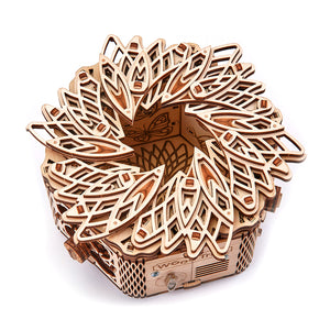 Mystery Flower - 3D-wooden-mechanical-model-kit-by-WoodTrick.