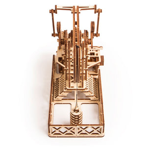 Oil Derrick - 3D wooden mechanical model kit by WoodTrick.