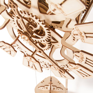 Pendulum Wall Clock - 3D wooden mechanical model kit by WoodTrick.