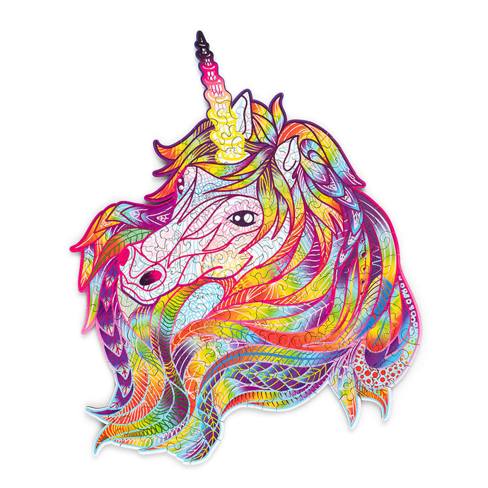 Sparkle Unicorn - wooden colorful puzzle by WoodTrick.
