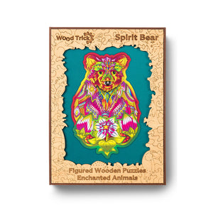 Spirit Bear - wooden colorful puzzle by WoodTrick.